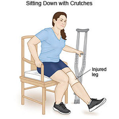 Crutch Instruction - Sitting Down with crutches