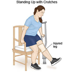 Crutch Instruction - Standing Up with crutches