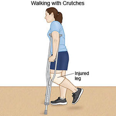 Crutch Instruction - Walking with crutches