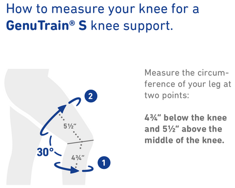 How to Measure Bauerfeind GenuTrain S Knee Support