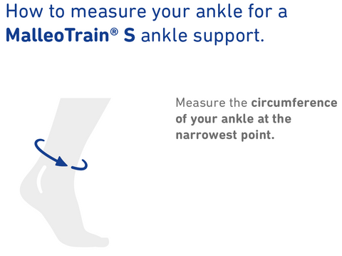 How to Measure Bauerfeind MalleoTrain S ankle support