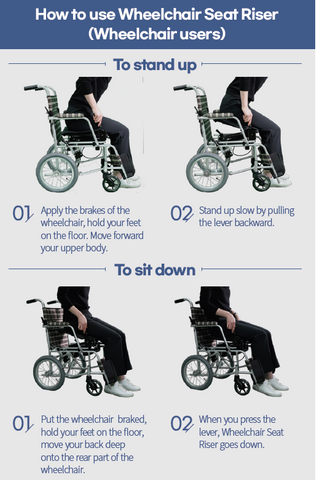 How to Use Wheelchair Seat Riser (Wheelchair Users)