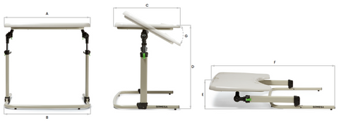 Ormesa Multifunction Table dimensions