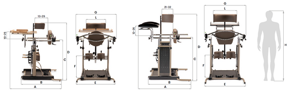 Ormesa Standy 3-4 Sizes and Weight