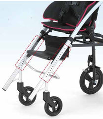 Pigleo II Children Folding Stroller adjustable footrest height and seat depth