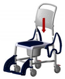 Rebotec Mobile Commode Shower Chair backrest