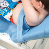 Rifton Wave Bath Chair chest strap with lateral positioning