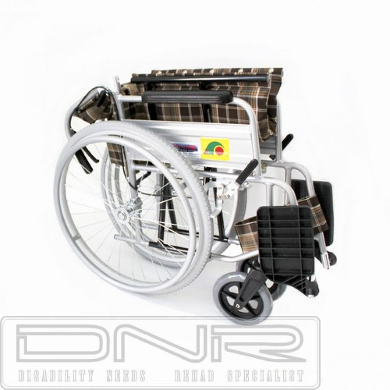 SANCTION STANDARD WHEELCHAIR FOLDBACK WITH ASSISTED BRAKES - DNR WHEELS PTE LTD