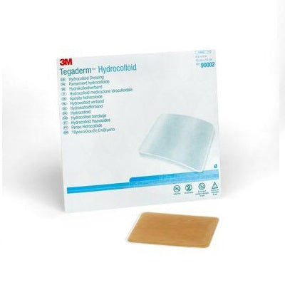 3M™ Tegaderm™ Hydrocolloid Dressing, Square, 4 inch x 4 inch (Box of 5)