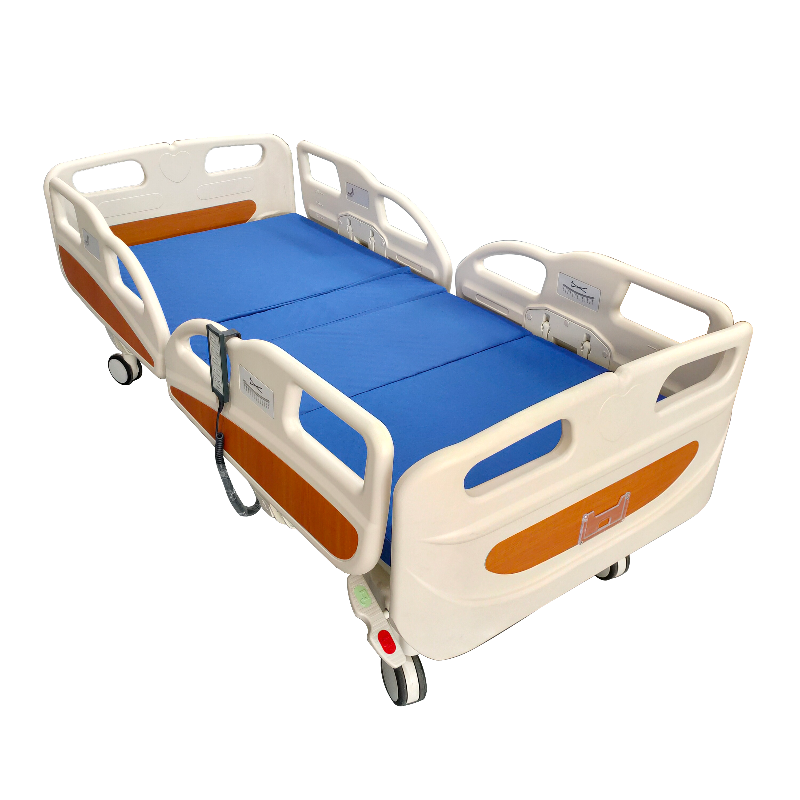 Electric 5 Functions Bed with Quad Rails full view
