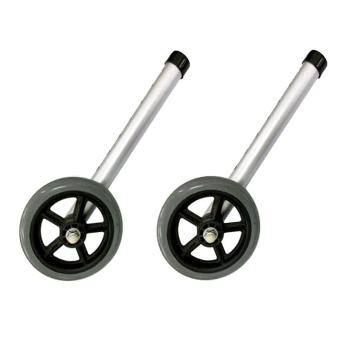 "DNR Wheels - 5"" Castor Wheels Attachment for Walking Frame (Pair)"