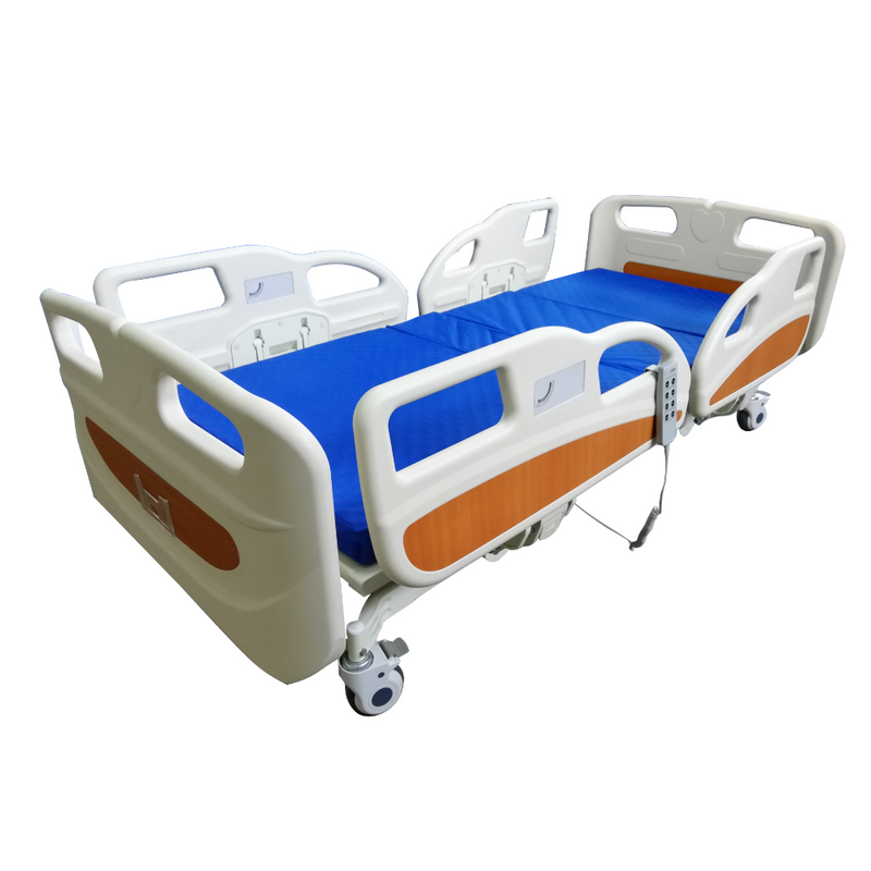 3 Functions Electric Hospital Bed Low Bed with 4 Side Rails