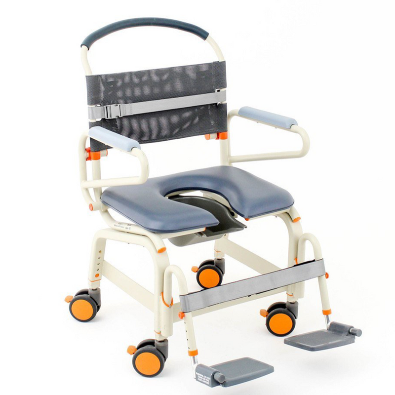 "Shower Buddy Roll-InBuddy XL Bariatric Commode 22"" - DNR Wheels"