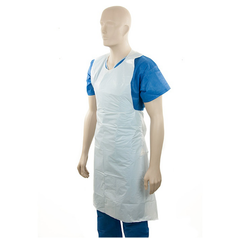 DNR Wheels - Apron Disposable White LDPE