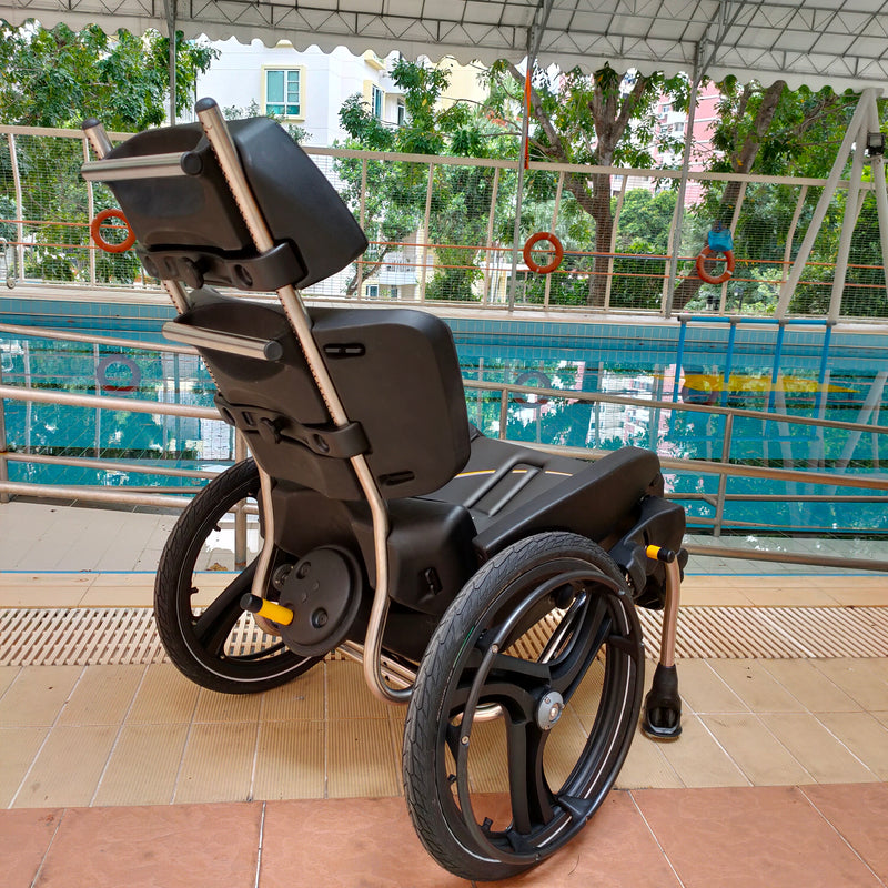 AquaTilt Pool Wheelchair rear view