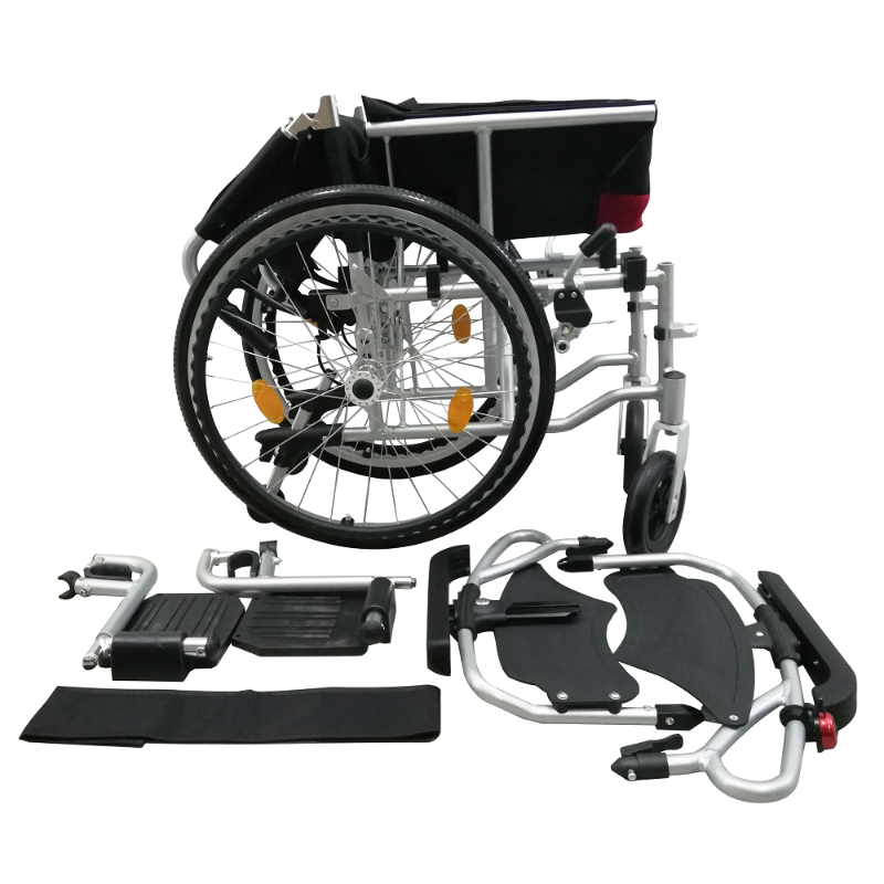 ASTRO Detachable Wheelchair with Height Adjustable Armrest folded