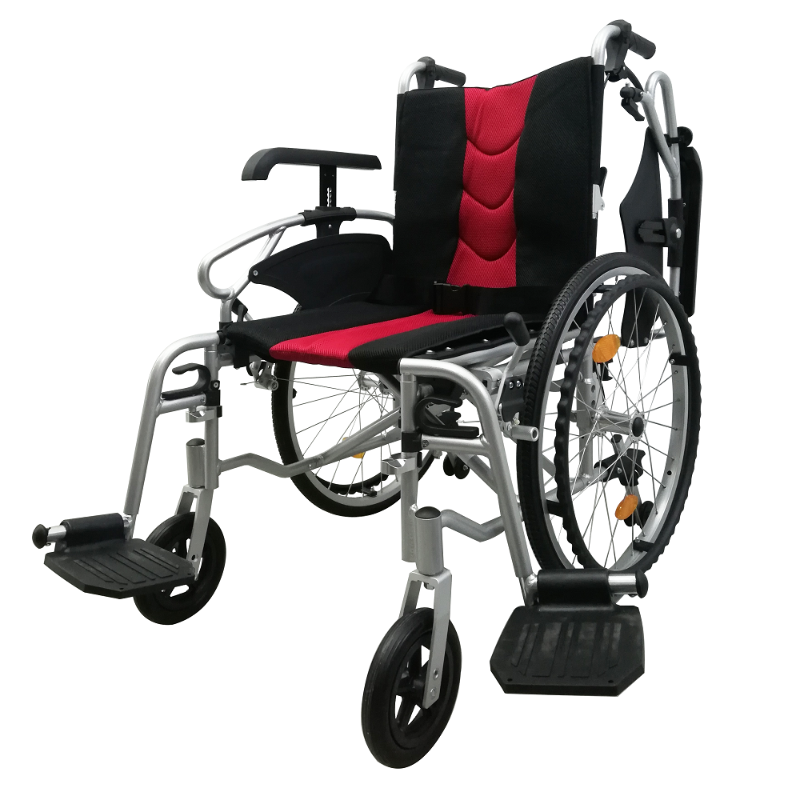 ASTRO Detachable Wheelchair with Height Adjustable Armrest tension backrest