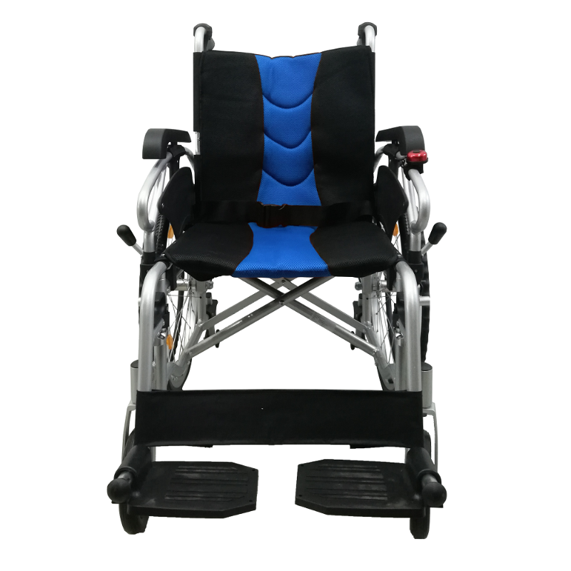 ASTRO Detachable Wheelchair with Height Adjustable Armrest blue