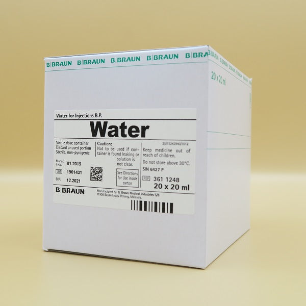 B Braun Water for Injection B.P.