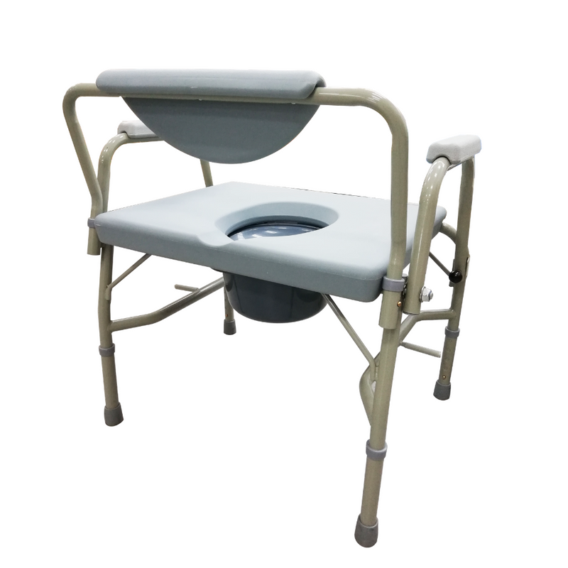 Height Adjustable Stationary Bariatric Commode rear view