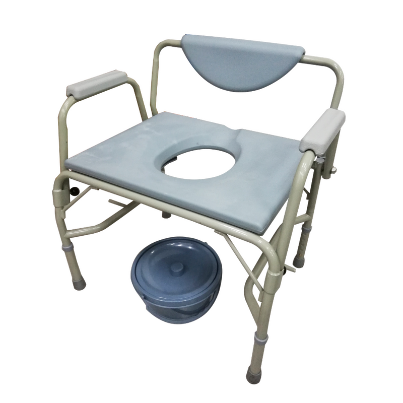 Height Adjustable Stationary Bariatric Commode