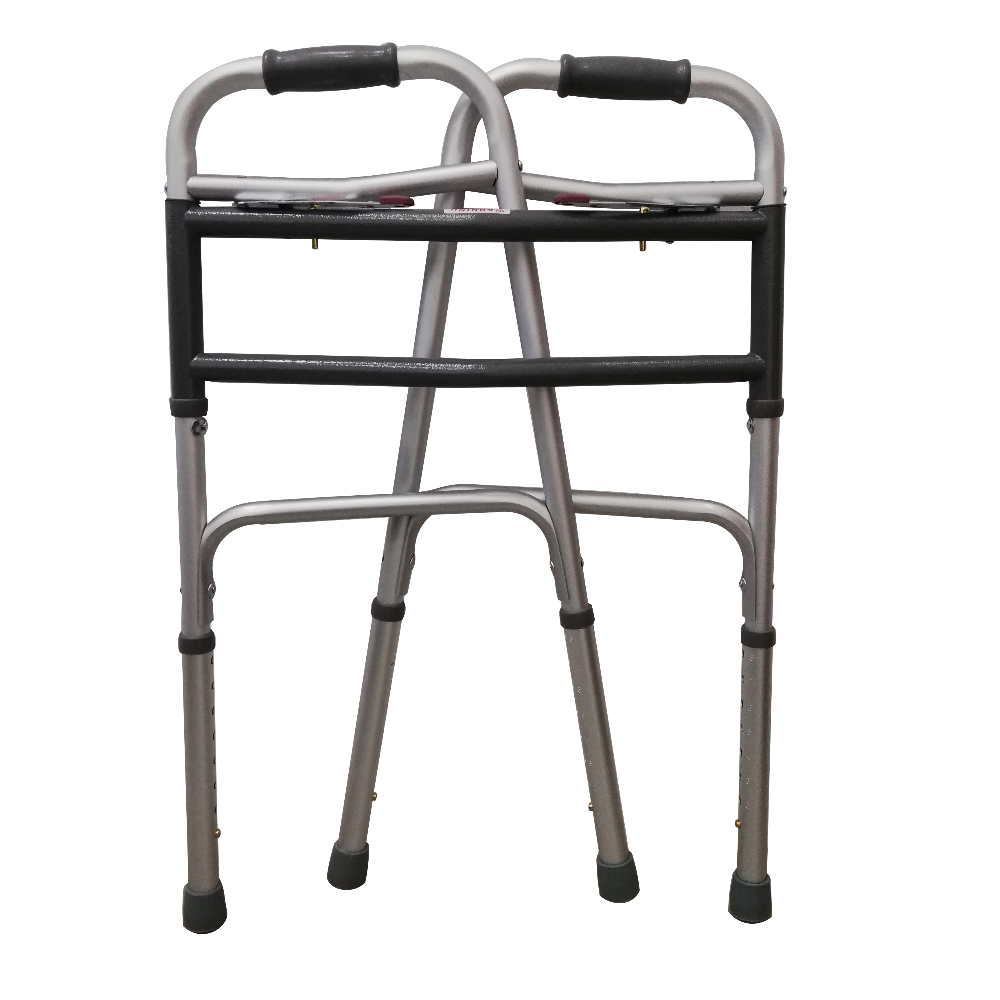 Foldable Bariatric Walking Frame folded