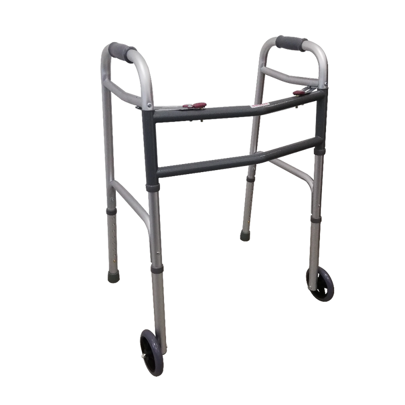 "Foldable Bariatric Walking Frame with 5"" Front Castors"