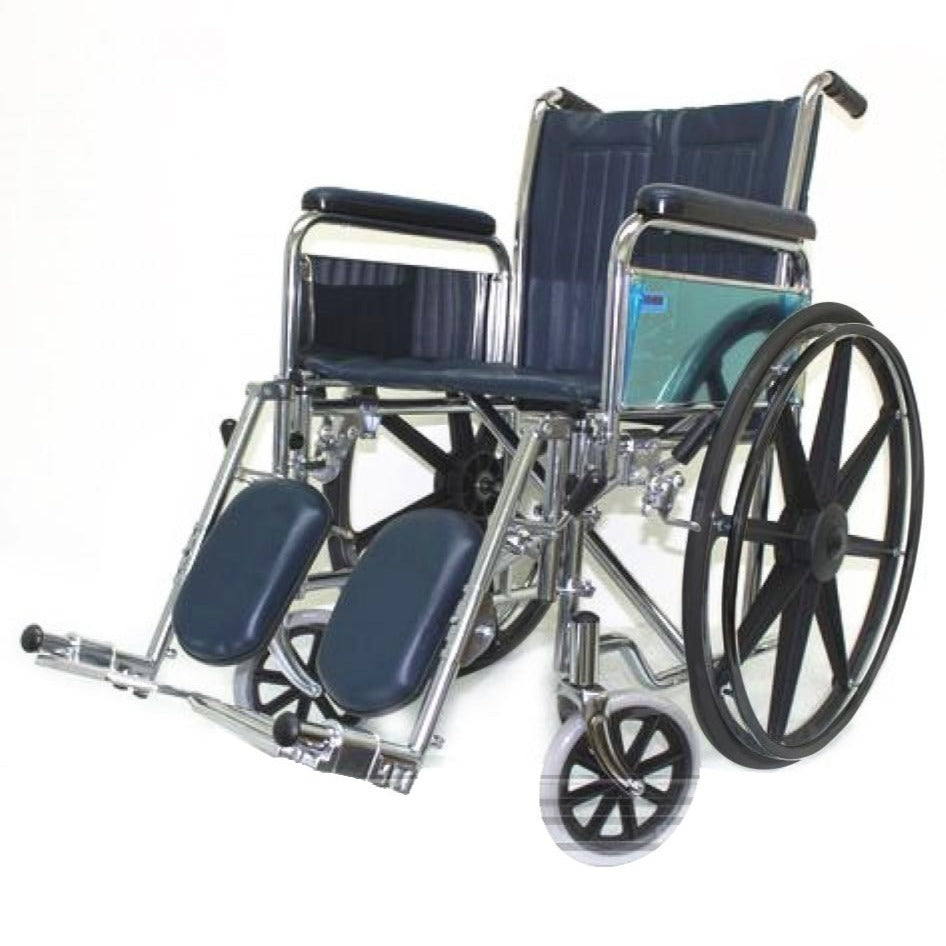 Chrome Elevating Wheelchair