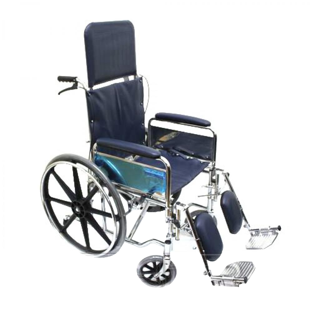 Chrome Recliner Wheelchair