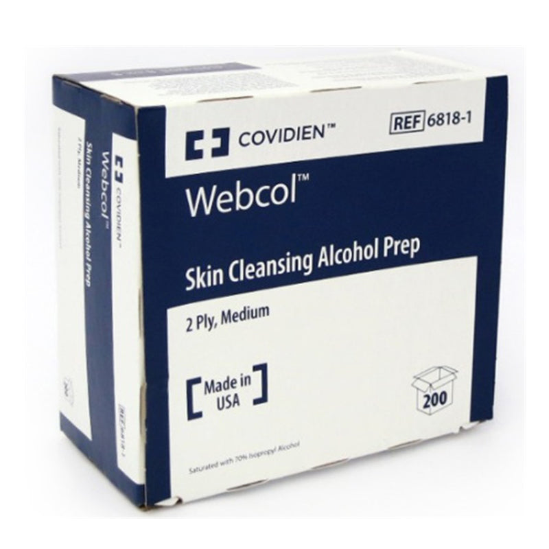 COVIDIEN Webcol Skin Cleansing Alcohol Prep medium 6818-1