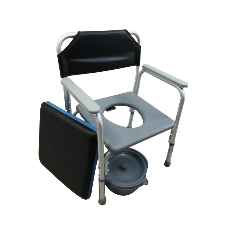 Shower Buddy Roll-In Buddy Tilt in Space Mobile Commode
