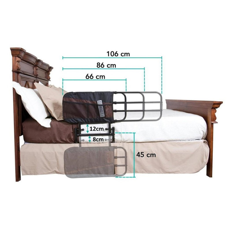EZ Adjust Bed Rail For Fall Prevention dimensions