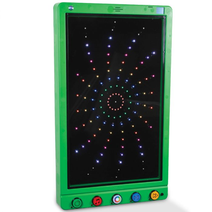 Fireworks Extravaganza Sensory Room Wall Panel green