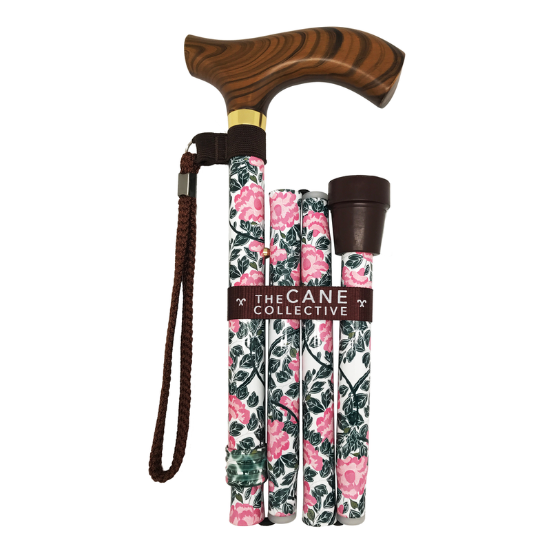 Foldable Walking Stick (Morning Peonies Cane)
