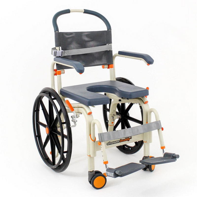 DNR Wheels - Shower Buddy Roll-InBuddy Self-Propel Commode