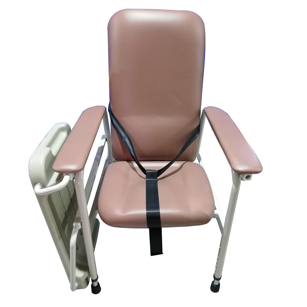 Height Adjustable Geriatric Chair with 3 Point Safety Belt