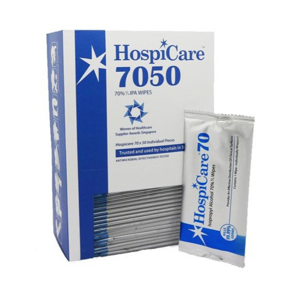 HospiCare 7050 IPA 70% Alcohol Wipes