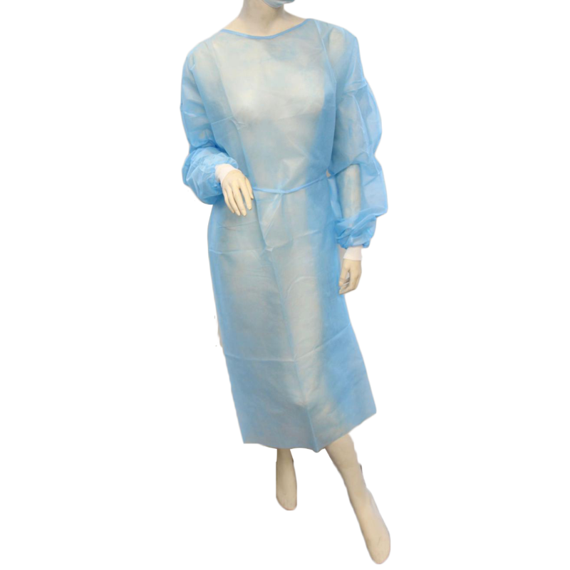 Disposable Isolation Gown with Knitted Cuff