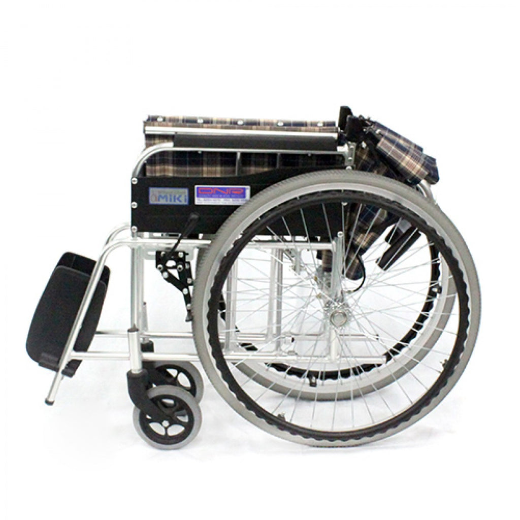 MIKI STANDARD WHEELCHAIR FOLDBACK WITH ASSISTED BRAKES - DNR WHEELS PTE LTD