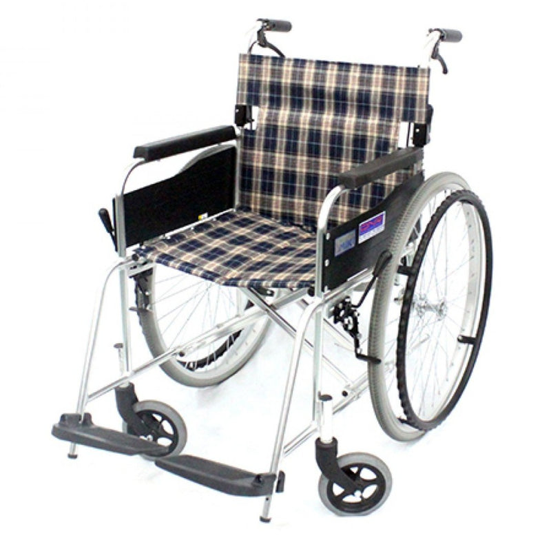 DNR Wheels - MIKI STANDARD WHEELCHAIR FOLDBACK WITH ASSISTED BRAKES