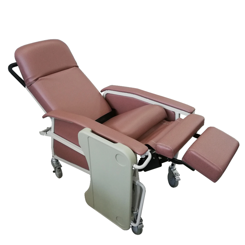 Manual Reclining Geriatric Chair with Tray recline
