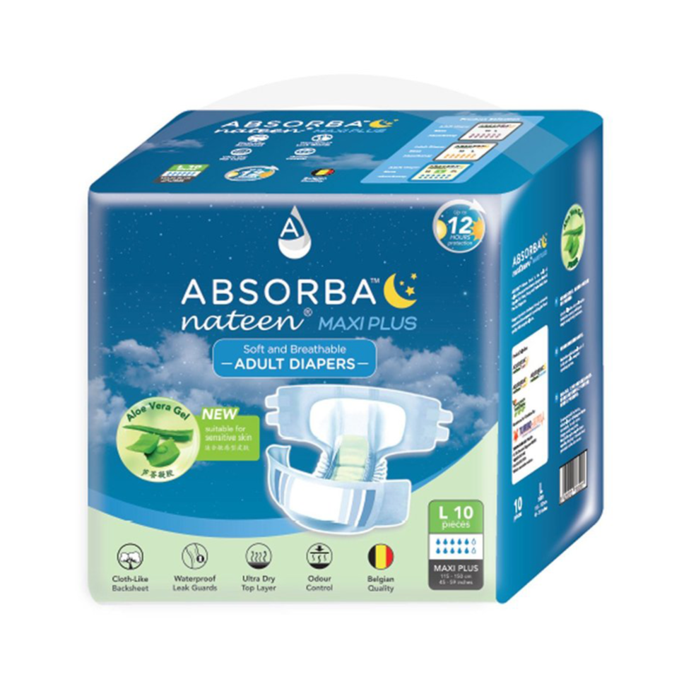 Absorba Nateen (Maxi Plus) Adult Diapers - DNR Wheels