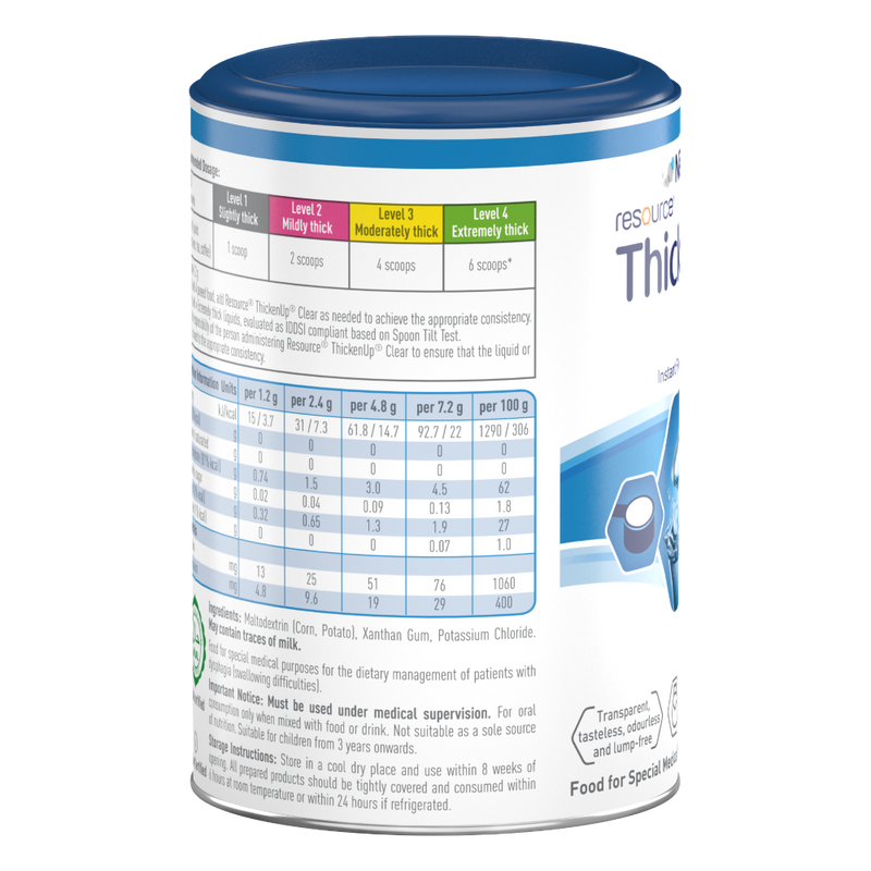 Nestlé Resource ThickenUp Clear 125g nutrition facts