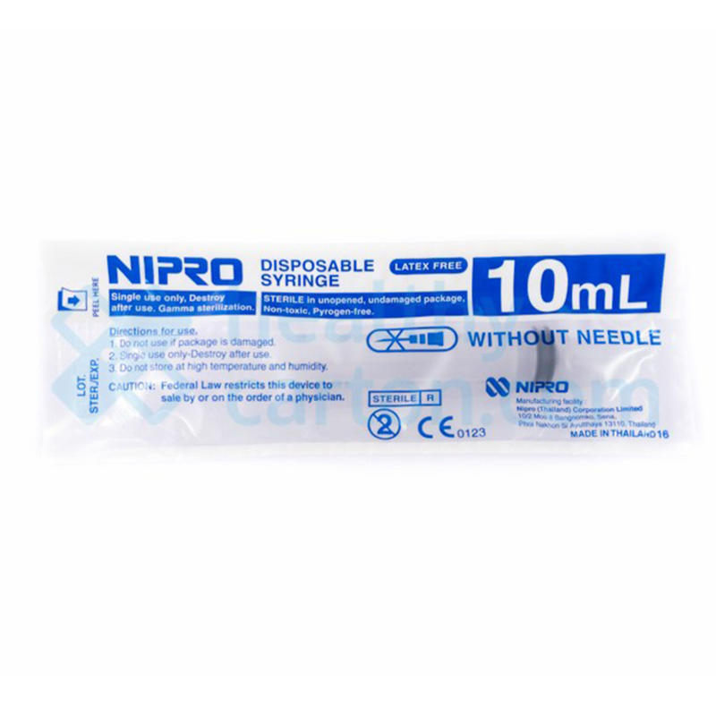Nipro Disposable Syringe STERILE 10 ml Syringe - DNR Wheels