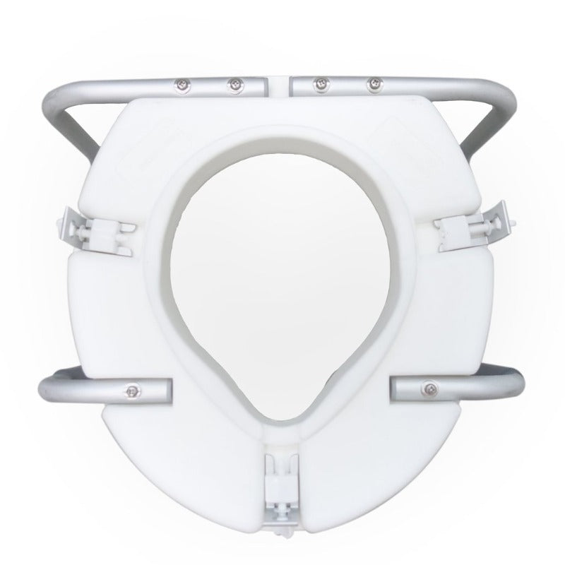 "3"" Raised Toilet Seat with Handle (bottom)"