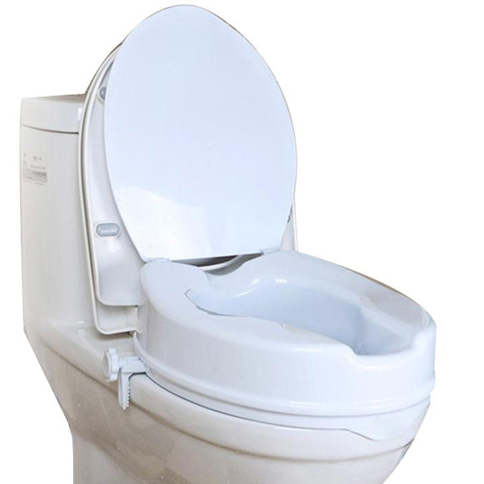 Raised Toilet Seat with Clamp-On