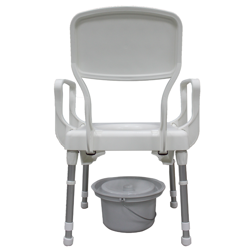 Rebotec Lyon Height Adjustable Commode Chair rear view