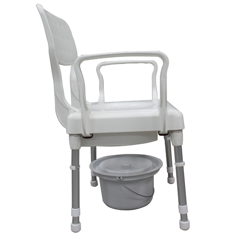 Rebotec Lyon Height Adjustable Commode Chair side view