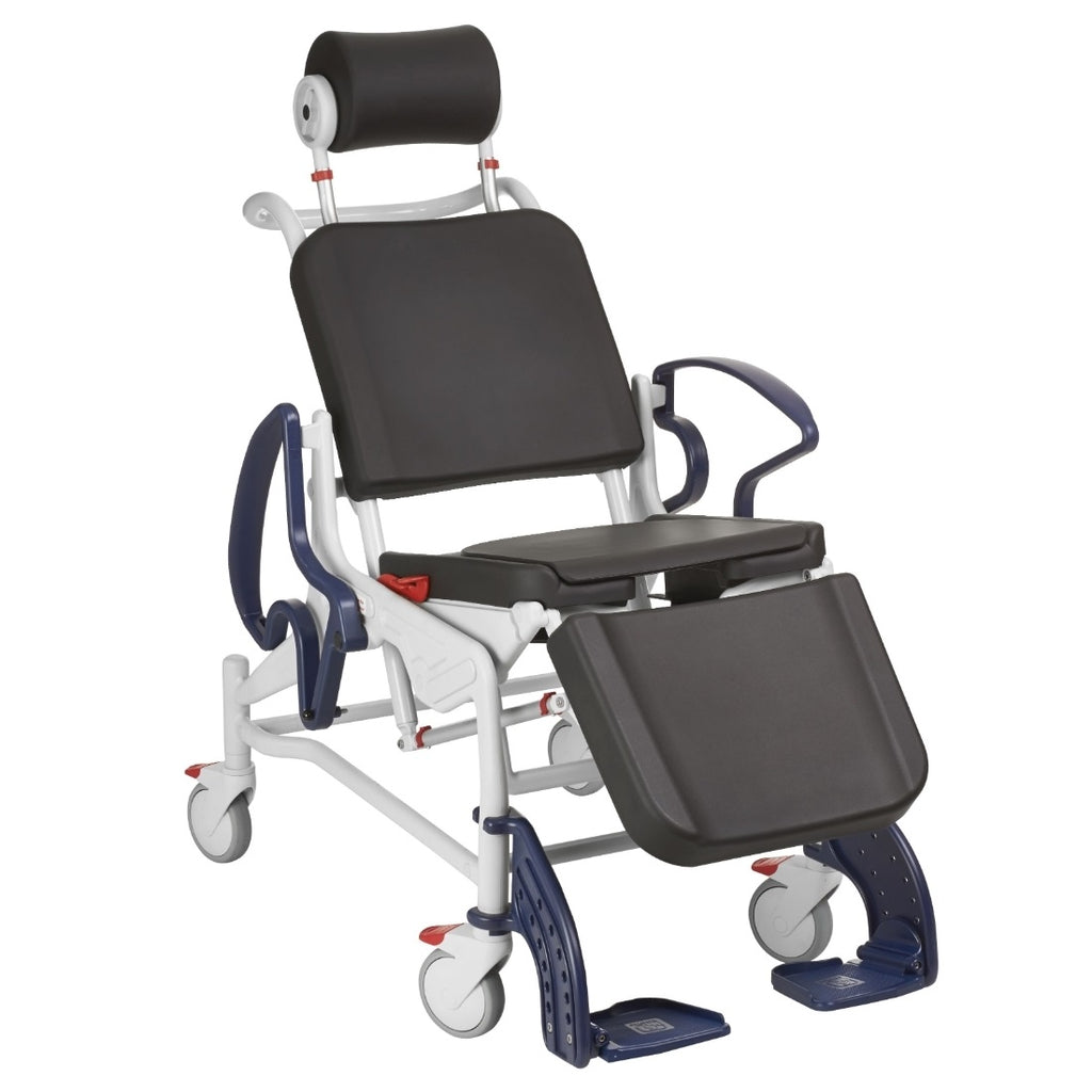Rebotec Phoenix Reclining Shower Chair | Multi Function Commode