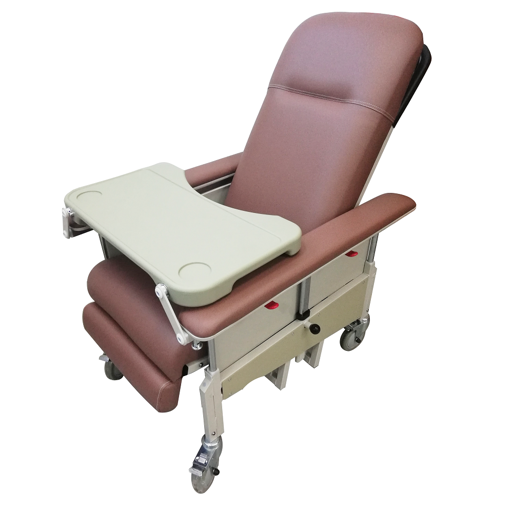 DNR Mobile Geriatric Chair with Drop Down Armrest